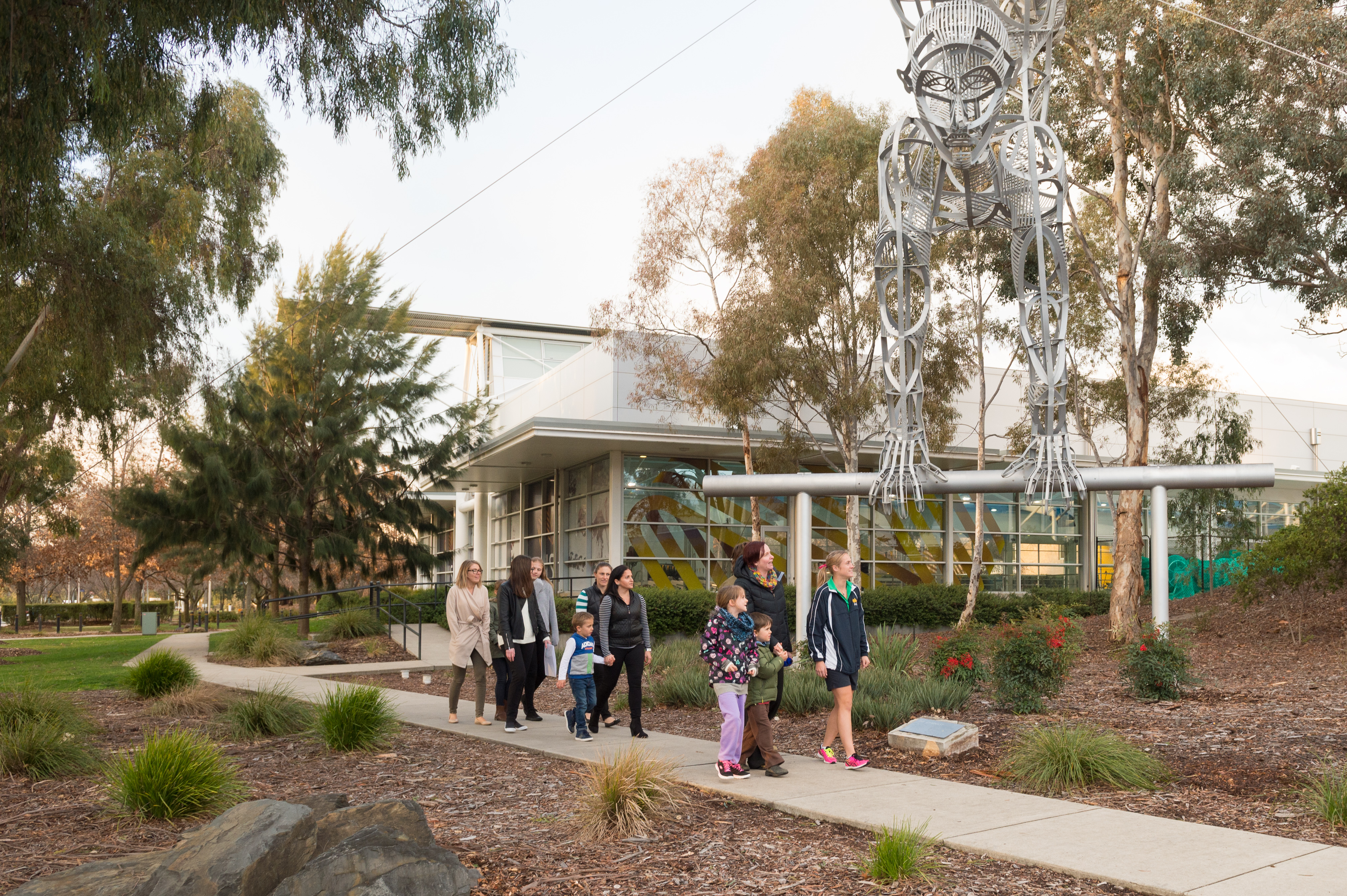 People on a guided tour of the Australian Institute of Sport