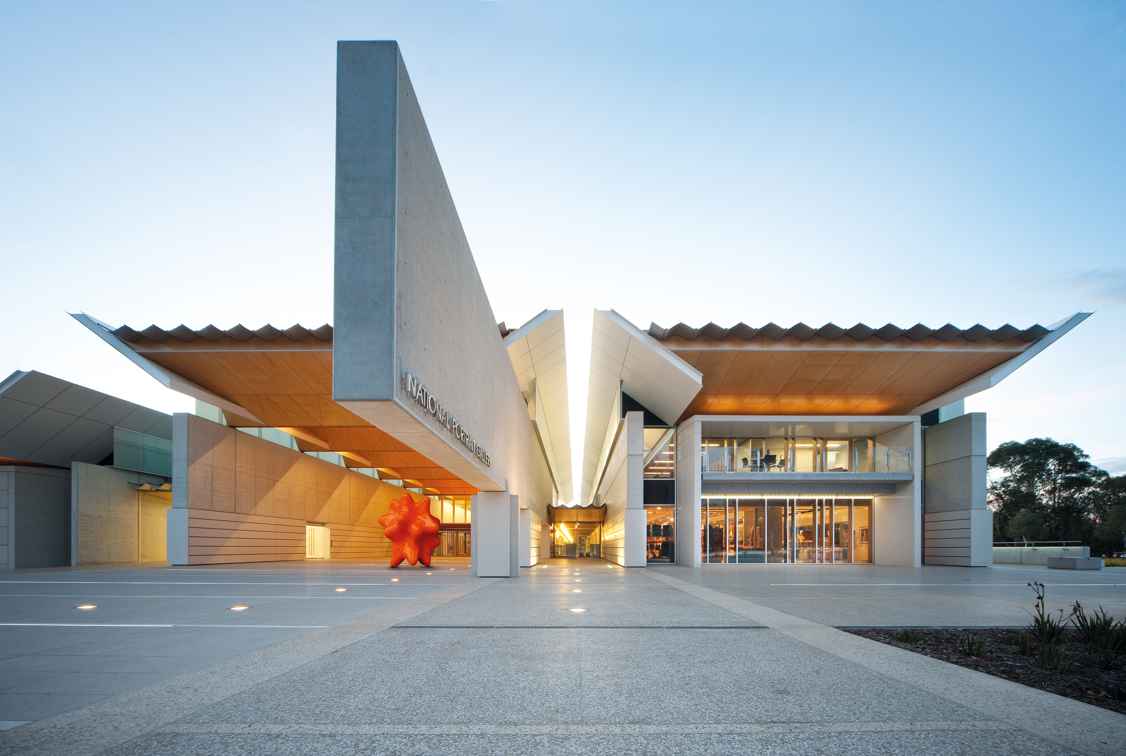 Exterior of the National Portrait Gallery Canberra