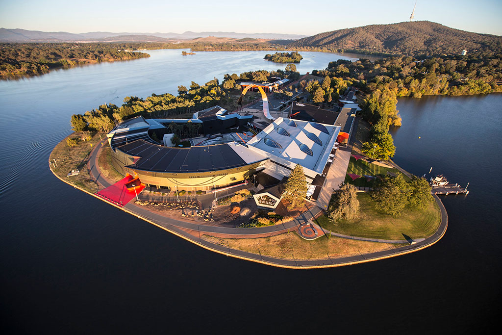 A view of the National Musuem of Australia, a short 10 minutes from Canberra accommodation.