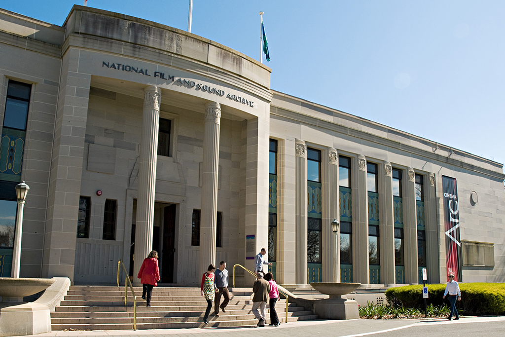 National Film and Sound Archive located 10 minutes from Canberra accommodation.