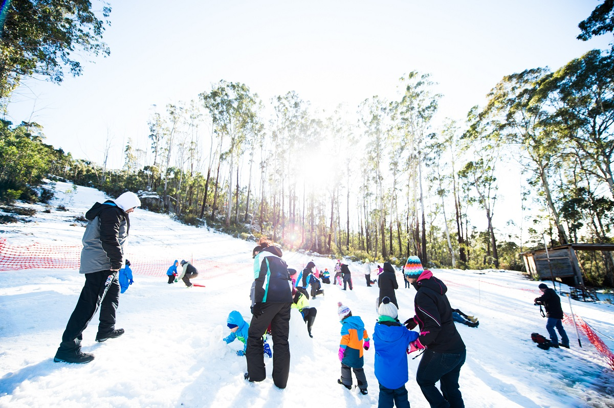 Best winter activities in Canberra, Corin Forest Snow Park.