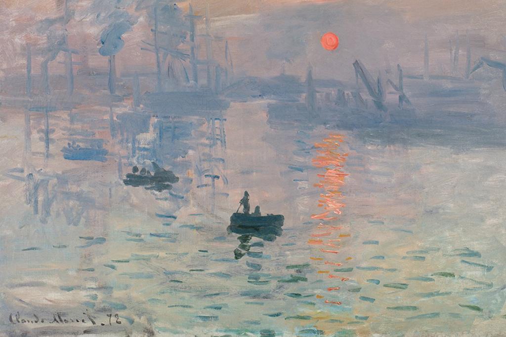 Photograph of Monet: Impression Sunrise.