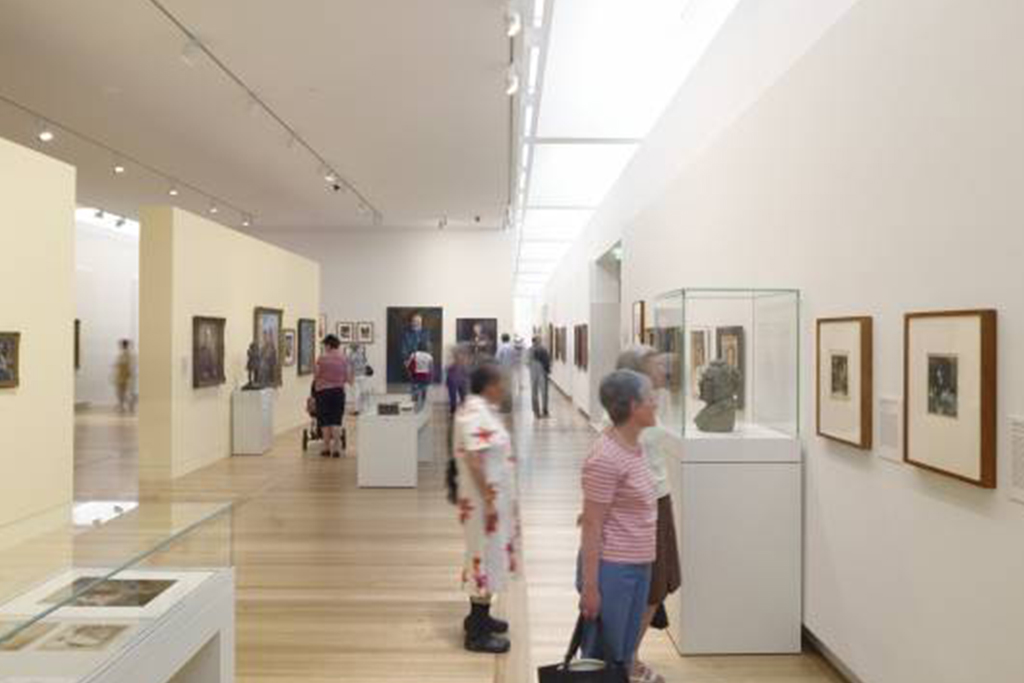 Photograph inside the National Portrait Gallery in Canberra via VisitCanberra