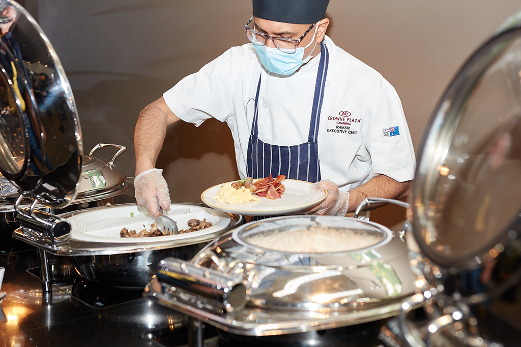 Assisted buffet breakfast in Redsalt Restaurant, Canberra
