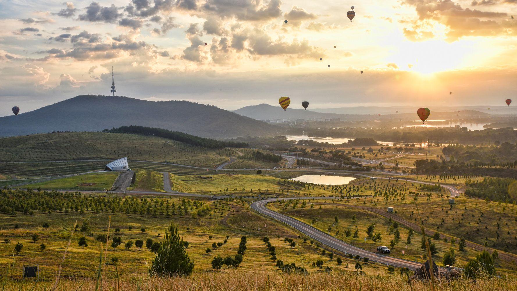 Aerial photograph of Canberra landscape via Huffington post Australia
