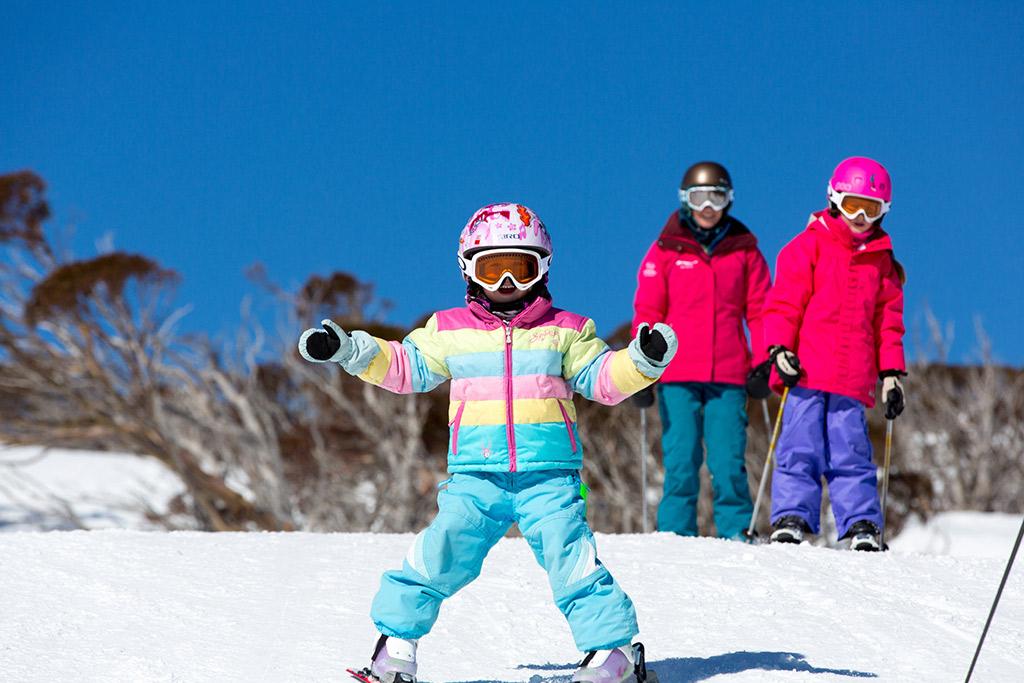 Family skier in Perisher